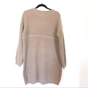 ASOS Long Sleeve Sweater Dress | Taupe | Size 8